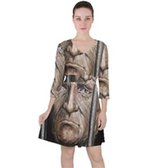 Old Man Imprisoned Ruffle Dress