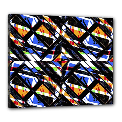 Multicolor Geometric Abstract Pattern Canvas 24  X 20