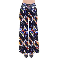 Multicolor Geometric Abstract Pattern Pants