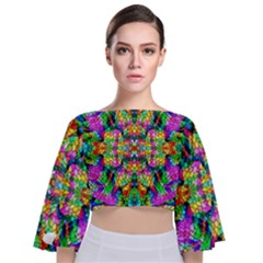 Pattern 854 Tie Back Butterfly Sleeve Chiffon Top