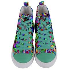Artwork By Patrick Pattern 9 Women s Mid Top Canvas Sneakers