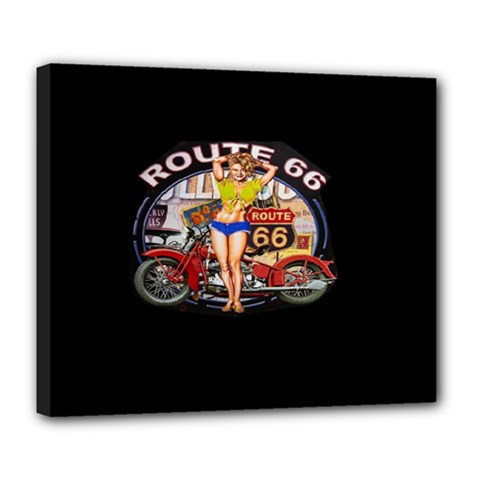 Route 66 Deluxe Canvas 24  X 20