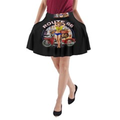 Route 66 A Line Pocket Skirt
