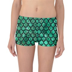 Mermaid Fish Scale Reversible Boyleg Bikini Bottoms