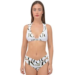 Freehugs Double Strap Halter Bikini Set