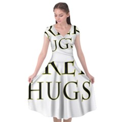 Freehugs Cap Sleeve Wrap Front Dress