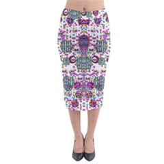 Alien Sweet As Candy Midi Pencil Skirt