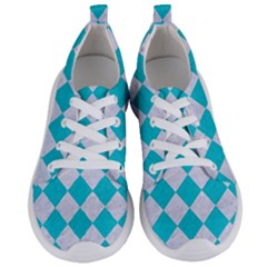 Square2 White Marble & Turquoise Colored Pencil Women s Lightweight Sports Shoes