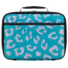 Skin5 White Marble & Turquoise Colored Pencil (r) Full Print Lunch Bag