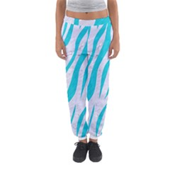 Skin3 White Marble & Turquoise Colored Pencil (r) Women s Jogger Sweatpants