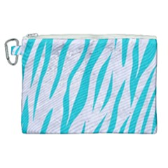 Skin3 White Marble & Turquoise Colored Pencil (r) Canvas Cosmetic Bag (xl)