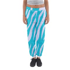 Skin3 White Marble & Turquoise Colored Pencil Women s Jogger Sweatpants
