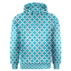 Circles3 White Marble & Turquoise Colored Pencil Men s Overhead Hoodie