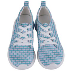 Brick1 White Marble & Turquoise Colored Pencil (r) Women s Lightweight Sports Shoes