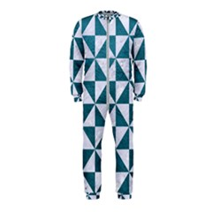Triangle1 White Marble & Teal Leather Onepiece Jumpsuit (kids)