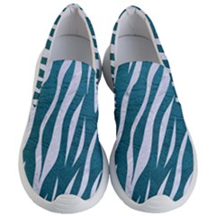 Skin3 White Marble & Teal Leather Women s Lightweight Slip Ons