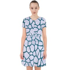 Skin1 White Marble & Teal Leather Adorable In Chiffon Dress