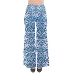 Damask2 White Marble & Teal Leather (r) Pants