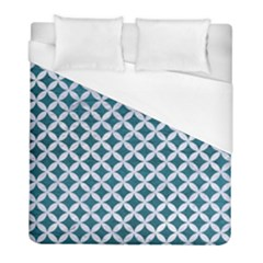 Circles3 White Marble & Teal Leather Duvet Cover (full/ Double Size)