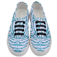 Skin2 White Marble & Teal Brushed Metal (r) Women s Classic Low Top Sneakers
