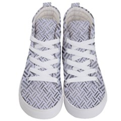 Woven2 White Marble & Silver Paint (r) Kid s Hi Top Skate Sneakers