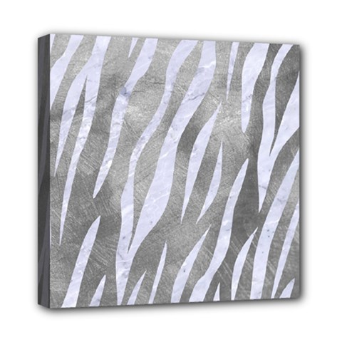 Skin3 White Marble & Silver Paint Multi Function Bag