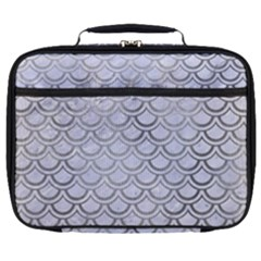 Scales2 White Marble & Silver Paint (r) Full Print Lunch Bag