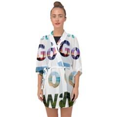 Hawaii Half Sleeve Chiffon Kimono