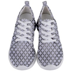 Circles3 White Marble & Silver Paint (r) Men s Lightweight Sports Shoes