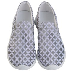 Circles3 White Marble & Silver Paint Men s Lightweight Slip Ons