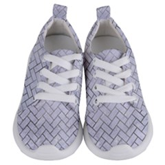 Brick2 White Marble & Silver Paint (r) Kids  Lightweight Sports Shoes