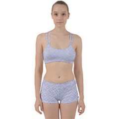Woven2 White Marble & Silver Glitter (r) Women s Sports Set