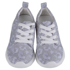 Skin5 White Marble & Silver Glitter (r) Kids  Lightweight Sports Shoes