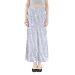 Skin4 White Marble & Silver Glitter (r) Full Length Maxi Skirt
