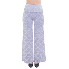 Scales1 White Marble & Silver Glitter Pants