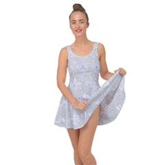 Royal1 White Marble & Silver Glitter (r) Inside Out Dress