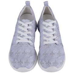 Royal1 White Marble & Silver Glitter Men s Lightweight Sports Shoes