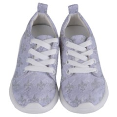 Royal1 White Marble & Silver Glitter Kids  Lightweight Sports Shoes