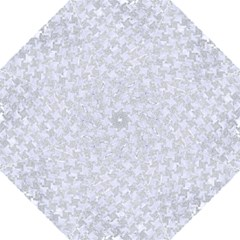 Houndstooth2 White Marble & Silver Glitter Hook Handle Umbrellas (large)