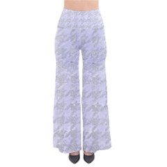 Houndstooth1 White Marble & Silver Glitter Pants