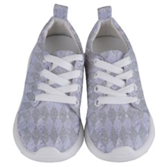 Diamond1 White Marble & Silver Glitter Kids  Lightweight Sports Shoes