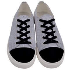 Brick1 White Marble & Silver Glitter Men s Low Top Canvas Sneakers