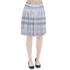 Stripes2white Marble & Silver Brushed Metal Pleated Skirt