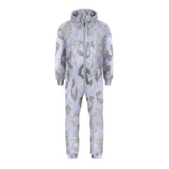 Skin5 White Marble & Silver Brushed Metal Hooded Jumpsuit (kids)