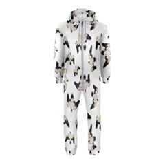 Birds Pattern Photo Collage Hooded Jumpsuit (kids)