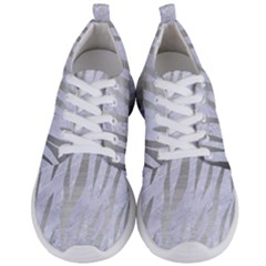 Skin3 White Marble & Silver Brushed Metal (r) Men s Lightweight Sports Shoes