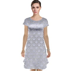 Scales2 White Marble & Silver Brushed Metal (r) Cap Sleeve Nightdress