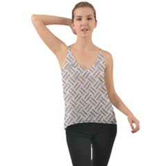 Woven2 White Marble & Sand (r) Cami
