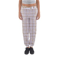 Woven1 White Marble & Sand Women s Jogger Sweatpants