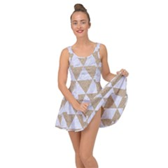 Triangle3 White Marble & Sand Inside Out Dress